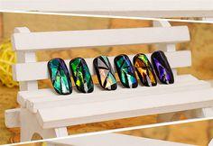 5 Листов 3D Голографические Битое Стекло Фольга Finger Nail Art Зеркало Наклейки…