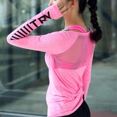 Women Sport Wear Transparent Fitness Clothing Sport Suit Yoga Top Quick-dry Sport T-shirt Gym Clothes Long Sleeve Mesh Sexy - Sports & Entertainment/Sportswear & Accessories Gym Shirts, Running Shirts, Sport T Shirt, Sport Wear, Sport Shorts, Sport 10, Yoga Fitness, Workout Fitness, Fitness Top