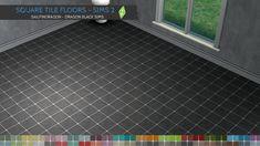 Square Tile Flooring - Sims 2 Walls & Flooring - Dragon Black Sims