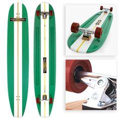 Hamboards Classic Longboard (Green White)
