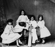 Charles Lutwidge Dodgson (Lewis Carroll), Alice, Lorina, Henry and Edith Liddell, 1869
