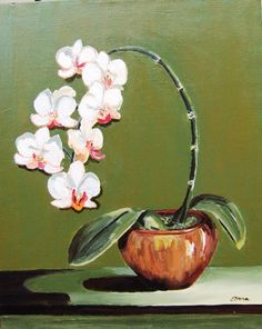 paintings of orchids in acrylic Oil Painting For Beginners, Beginner Painting, Orchids Painting, African Paintings, Oil Paintings, Pencil Drawings Of Flowers, Diy Canvas Art, Fantastic Art, Acrylic Art