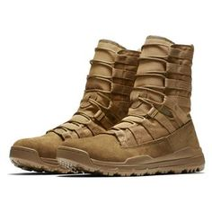 Great pair of boots, but they size a little large. With other Nike products, I am a with this boot I size Military Tactical Boots, Tactical Wear, Tactical Clothing, Military Gear, Military Shoes, Military Style, Nike Sfb Boots, Messi Y Ronaldinho, Men's Shoes