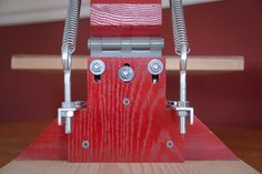 This t-shirt screenprinting press I designed and built is fully adjustable to help get the best prints possible.