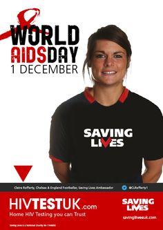 Thanks to Claire Rafferty  @clrafferty1 of @chelsealfc for supporting the @savinglivesuk #HIV #StopTheStigma campaign www.savinglivesuk.com www.HIVTestUK.com @chelseafc