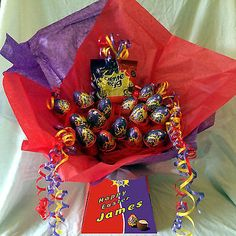 PERSONALSIED CADBURY CREME / CREAM EGG SWEET CHOCOLATE BOUQUET HAMPER | Chocolate | Sweets & Chocolate - Zeppy.io