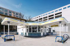 derrington building studio restores 1940s gas station to bus stop