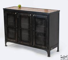 Custom Locking Wine Cellar Cabinet / Steel & Reclaimed Oak – Real Industrial Edge Furniture | Custom, Industrial, Vintage, Handmade