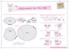 Coelhinho de Feltro (PAP com molde)