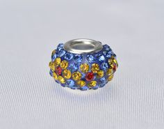 rhinestone beads,14x10mm rondell beads, crystal beads,copper beads,copper beads,Charm beads
