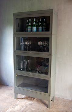 Vintage Metal Barrister Bookcase