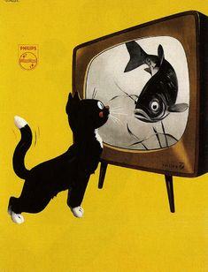 Philips TV ad, Dutch, vintage, awesome. // This would look great hanging on my wall.