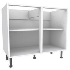 Cooke & Lewis White Standard Base Cabinet (W)1000mm | Rooms | DIY at B&Q