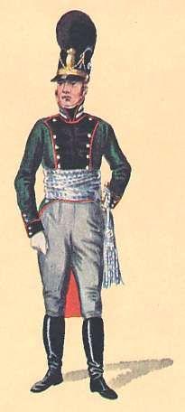 Bavaria: 1st Lieutenant 3rd Light Infantry 1806