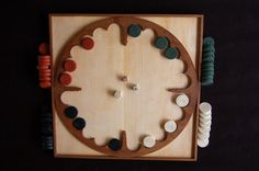 St. Thomas guild - medieval woodworking, furniture and other crafts: The game of the Four Seasons: making gaming counters