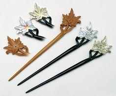Wooden hair sticks
