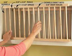 DIY Cupboard into open Plate Cabinet