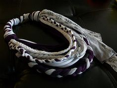This is my very own t-shirt repurposing project! A scarf or necklace...take your pick!
