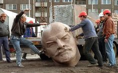 Lenin statue's head dug up and returned to Berlin Statues, Vladimir Lenin, After The Fall, Hammer And Sickle, Dug Up, Magnum, Head Stand, Lisa S, East Germany