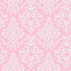 Vintage Pink | Pink Delicate Document Damask Wall Paper - Wall Sticker Outlet
