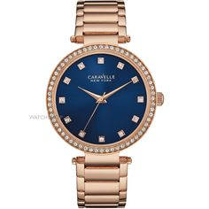 Ladies Caravelle New York T-Bar Watch Bulova, Metal Bracelets, Michael Kors Watch, Gold Watch, Rolex Watches, Plating, Quartz, Clock, New York