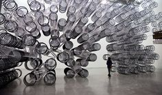 Ai Weiwei Piles 1,200 Bikes On Top Of Each Other, For Dazzling Effect