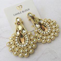 Soutache Necklace, Tassel Earrings, Trendy Jewelry, Boho Jewelry, Beautiful Sky, Creative Studio, Shibori, Beaded Embroidery, Brooch