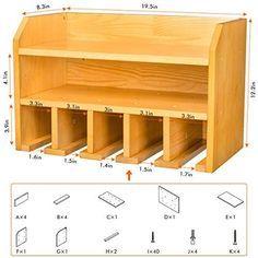 Tool Wall Storage, Power Tool Storage, Diy Garage Storage, Shed Storage, Wood Shop Projects, Woodworking Projects Diy, Woodworking Plans, Woodworking Tool Storage Ideas, Woodworking Workshop Layout