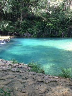 One of the pools of Semuc Champey - Coban, Alta Verapaz, Guatemala photo via #CastilloTravel