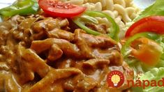 Érdekel a receptje? Kattints a képre! Meat Recipes, Chicken Wings, Waffles, Bacon, Pork, Food And Drink, Beef, Treats, Cooking
