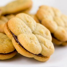 Perfect Peanut Butter Sandwich Cookies in no time, with a little help from the cookie press.