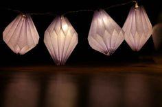 DIY Papier Lampions für eure Lichterkette