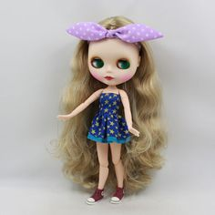 """PF 12/"""" Takara Neo Blythe Doll Nude 7 Joint White Skin For Diy"""