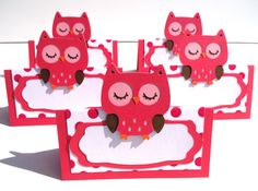 Items similar to 5 Owl Themed Hot Pink Tent Style Food Table Label's / Name Cards Look Whoo's Having A Birthday Party - Woodland on Etsy Owl Party Decorations, Party Themes, Party Ideas, Table Labels, Birthday Name, Name Cards, Alter, Tent, Hot Pink