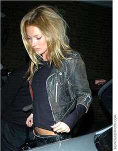 Kate Moss..... Leather jacket :0)