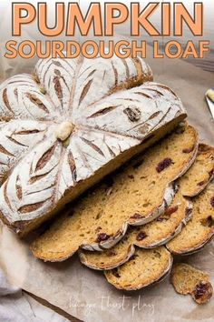 This will be your favorite fall sourdough bread recipe! Whole wheat sourdough infused with pumpkin, dried cranberries, and pepitas baked into a pumpkin shaped bread! Moist pumpkin bread with crispy crust that can be eaten sweet or savory. Use this sourdough recipe for morning toast or serve with your favorite cozy fall recipes.