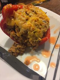 Mommy's Drinking: Clean Eating Recipe: Turkey Stuffed Peppers – Famous Last Words Healthy Cooking, Healthy Eating, Cooking Recipes, Whole Food Recipes, Healthy Recipes, Healthy Dinners, Healthy Tips, Healthy Choices, Delicious Recipes