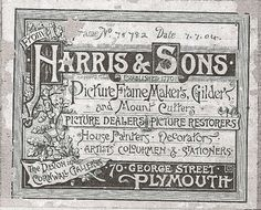 1904 picture framer's label. A thing of beauty to rival the art on the front!