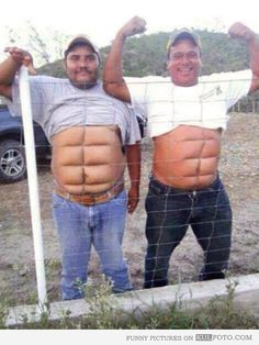 Six pack abs guys