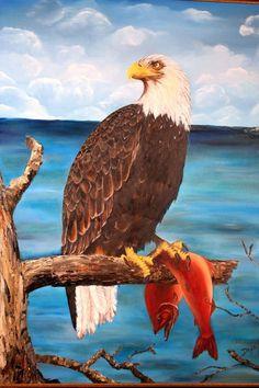 "Fine Art. '"" Bad Eagle "" Cuban Oil Painting 18"" x 12"".  #Expressionism"