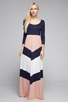 139e45a6260f Navy and pink maxi dress Modest Dresses For Teens