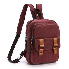 Scione 2018 Chest Bag Pack Korean Style Canvas Backpack Shoulder Bags  Female Male Travel Backpack Small Bag Men s Backpack Pack 14c0b4839e64b