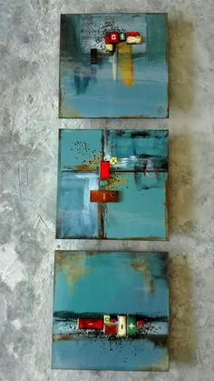 M Beneke fused glass tiles
