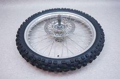 http://motorcyclespareparts.net/2003-03-honda-cr125-cr-125-front-wheel-rim-tire-rotor-axle-hub-2/2003 03 #Honda CR125 CR 125 Front Wheel Rim Tire Rotor Axle Hub