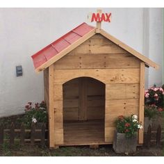Casita para mascotas, personalizada a su gusto #EnPuntocr #mascotas Outdoor Decor, House, Home Decor, Pets, Home, Haus, Interior Design, Home Interior Design, Houses