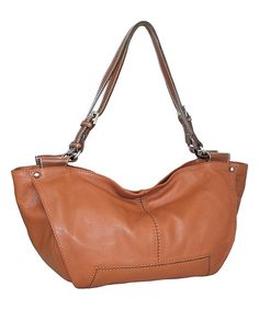 Look at this Cognac Maiden Of Madrid Leather Shoulder Bag on #zulily today!