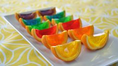 We went through our extensive stash of rainbow recipes and picked the best for celebrating Pride. Rainbow Desserts, Jelly Desserts, Rainbow Food, Flan, Movie Party Snacks, Sweets Recipes, Cooking Recipes, Good Food, Yummy Food