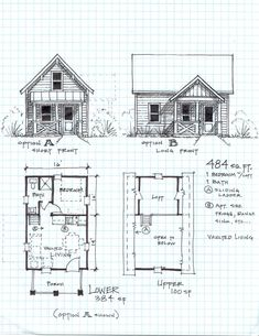 Loft house plan Shop Cabins And Cottages Adore This Floor Plan Really Want To Live I Pinterest Small Cabin With Loft Floorplans Photos Of The Small Cabin Floor