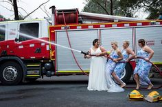 Her fiance was in the fire brigade...