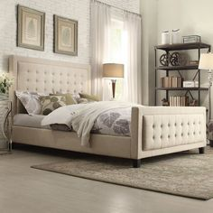 People Also Love These Ideas. Woodside Upholstered Panel Bed